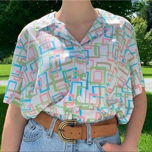 Vintage 90's Mod Button Down Hawaiian style shirt